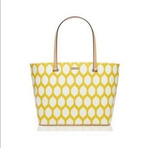 Kate Spade Via Lemoni Lemon Print Tote Yellow